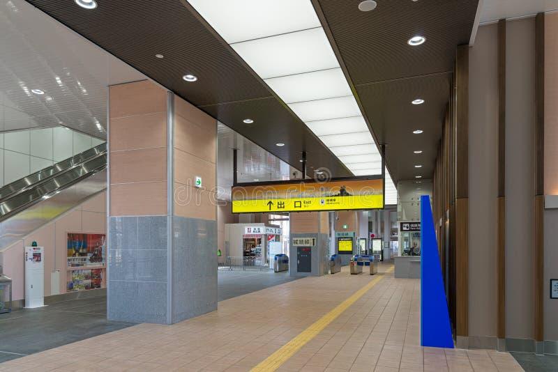 申英澈高冈驻地内部  富山,日本 免版税库存照片