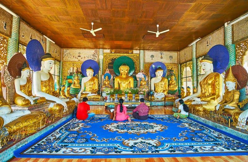 申英澈Ma Htee菩萨图象, Shwedagon,仰光,缅甸 免版税库存图片
