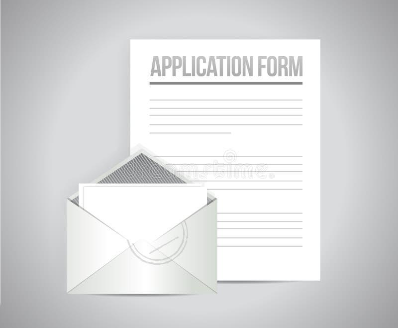 申请表例证设计图表 向量例证