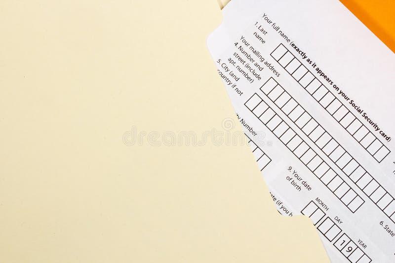 申请表 免版税图库摄影