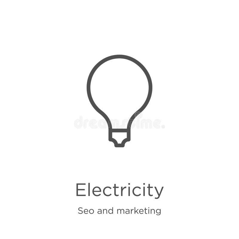 电从seo和营销汇集的象传染媒介 稀薄的线电概述象传染媒介例证 r 向量例证