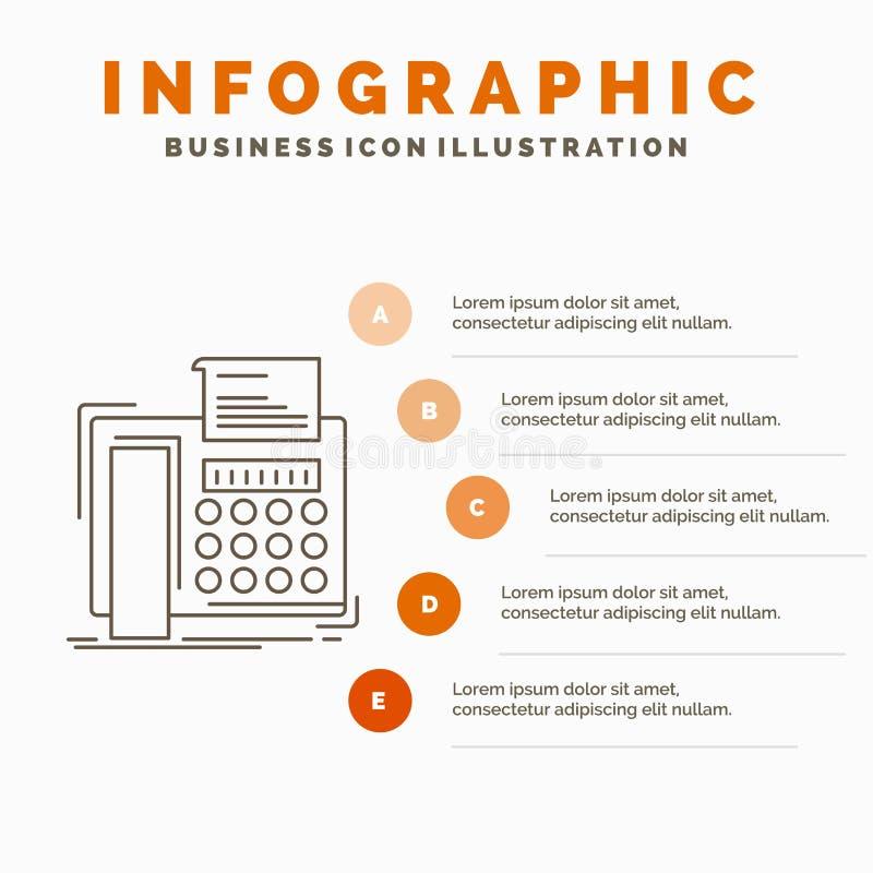 电传、消息、电话、电传、通信Infographics模板网站的和介绍 r 皇族释放例证