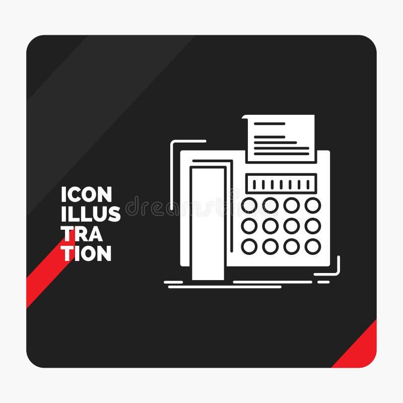 电传的,消息,电话,电传,通信纵的沟纹象红色和黑创造性的介绍背景 库存例证