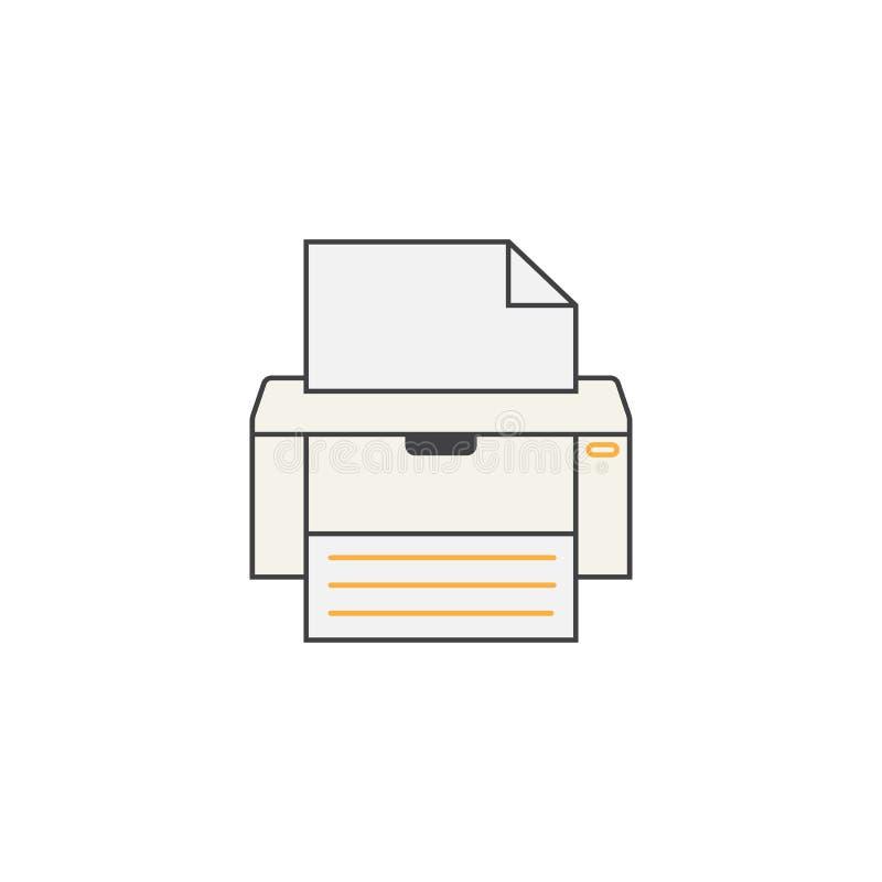 电传线象,打印机,电子设备, 库存例证