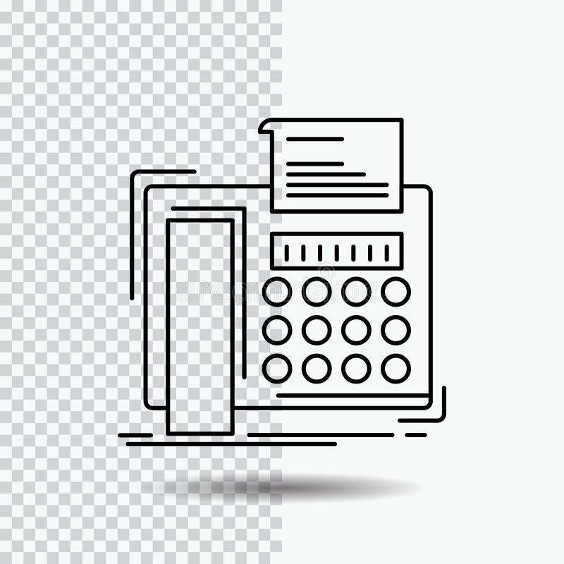 电传,消息,电话,电传,在透明背景的通信线路象 r 向量例证