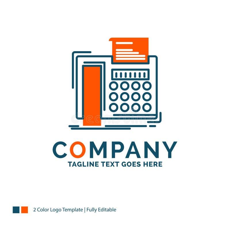 电传,消息,电话,电传,通信商标设计 蓝色 库存例证