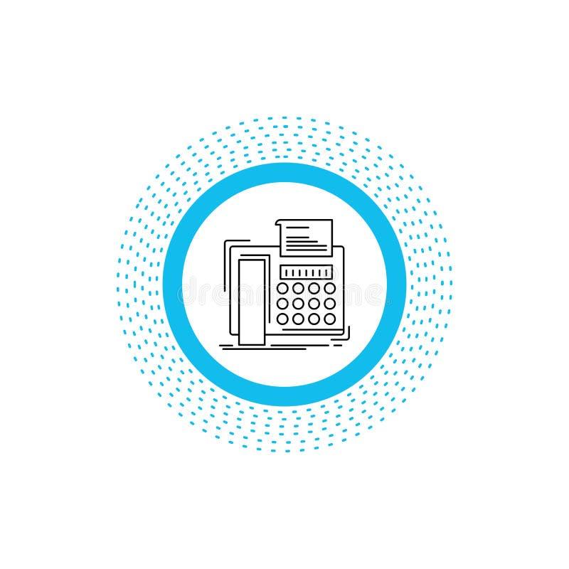 电传,消息,电话,电传,通信线路象 r 向量例证
