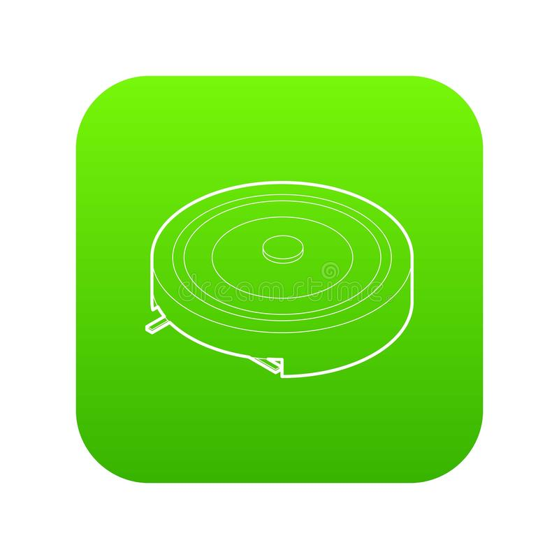 电便携式的火炉象绿色传染媒介 库存例证