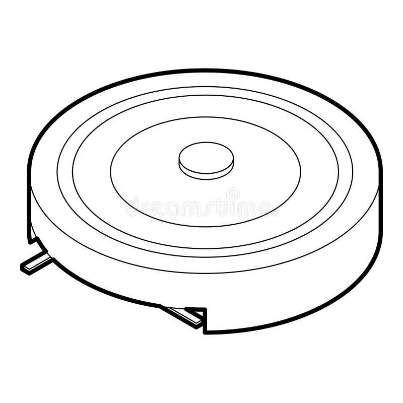 电便携式的火炉象,概述样式 向量例证