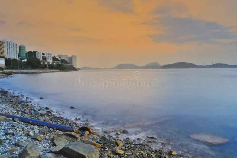 电信法海湾看法  在含沙海湾 图库摄影