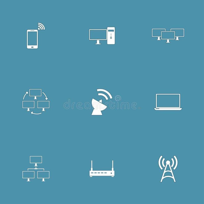 电信通信传染媒介象设置了2 向量例证