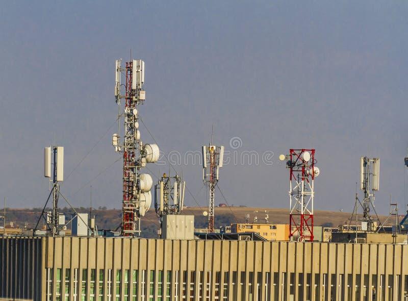 电信antena 免版税库存照片