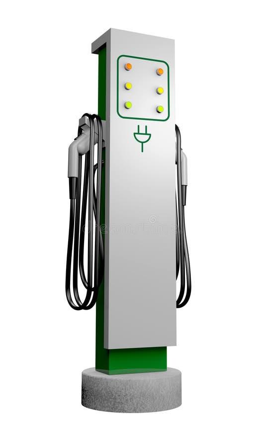 电充电站 向量例证