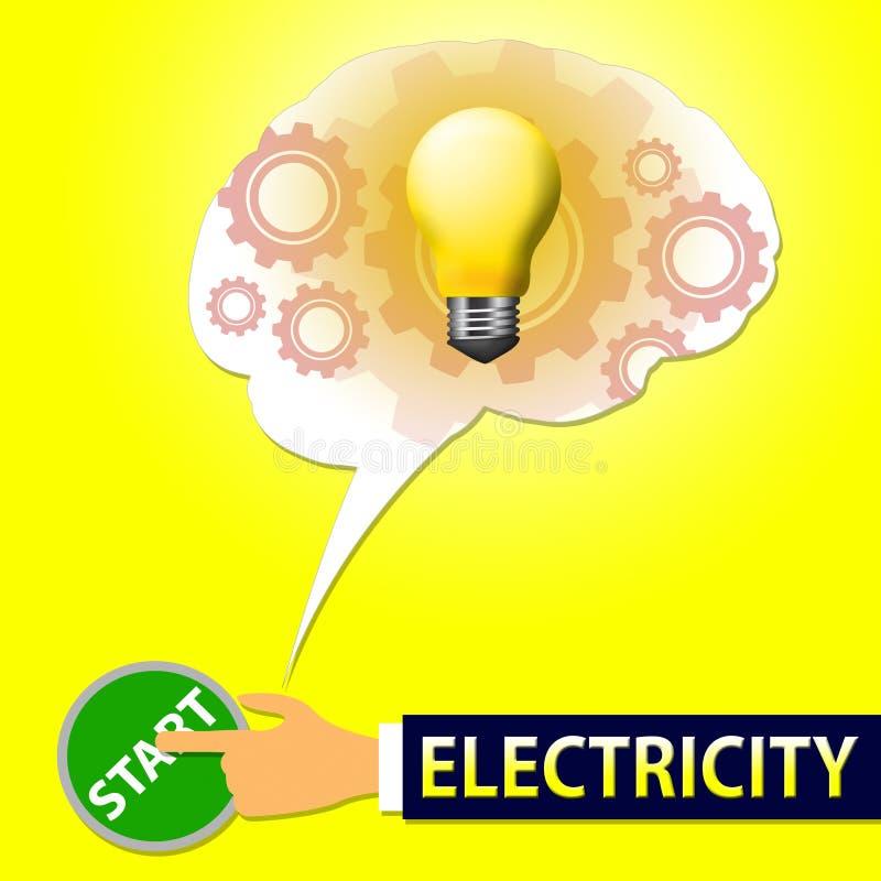 电光意味电源3d例证 皇族释放例证