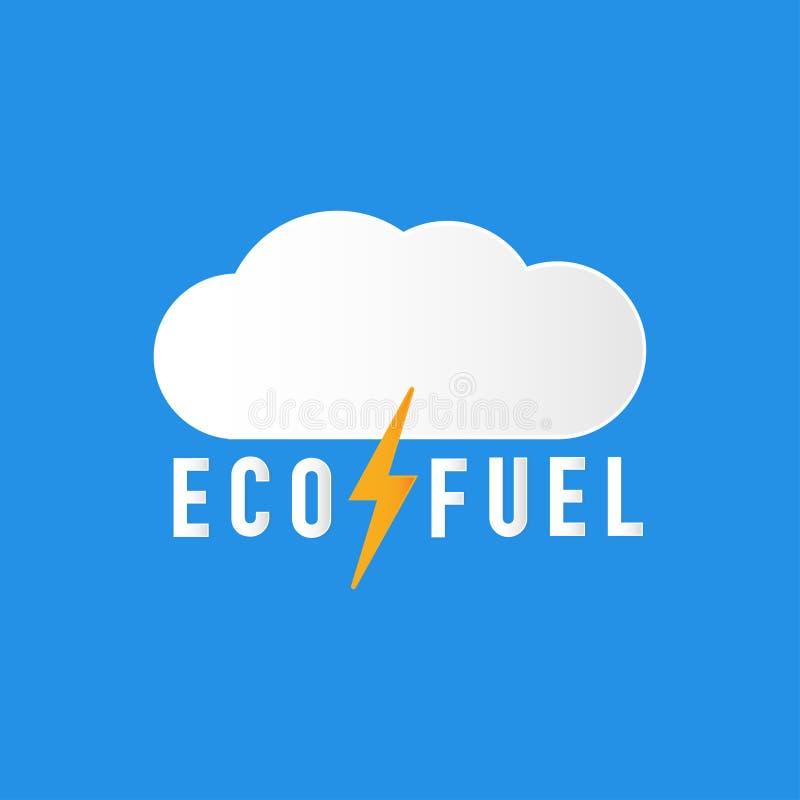 电力是eco燃料介绍传染媒介 皇族释放例证