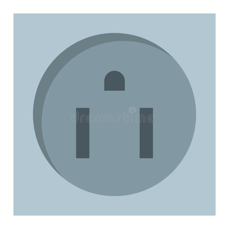 电力输出例证能量插口电子插座欧洲装置内部传染媒介象 库存例证