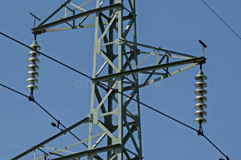 电力输送线,中央巴尔干山, Stara Planina的上部 库存照片