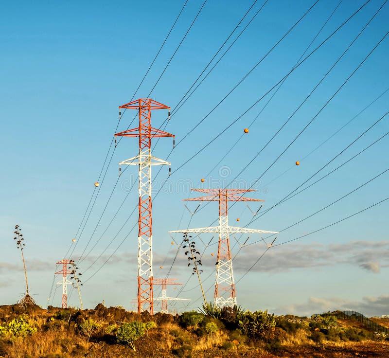 电力量定向塔 库存图片