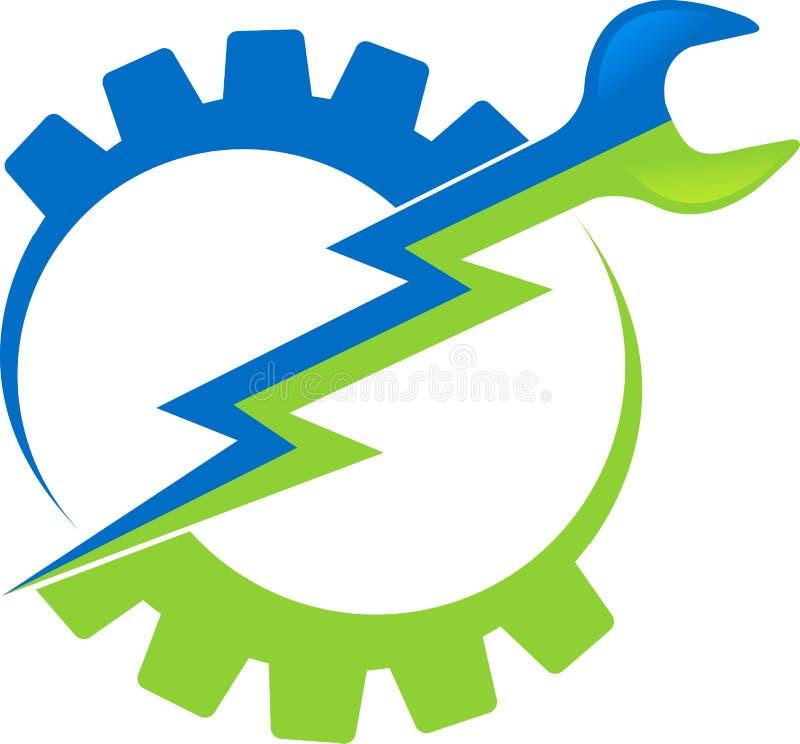 电动工具徽标 向量例证