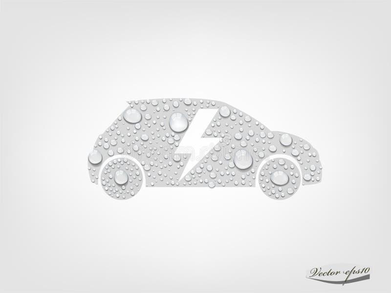 电动车汽车图形设计传染媒介有透明水下落的 库存例证