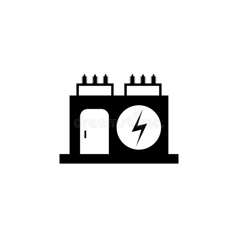电变压器象传染媒介例证 库存例证