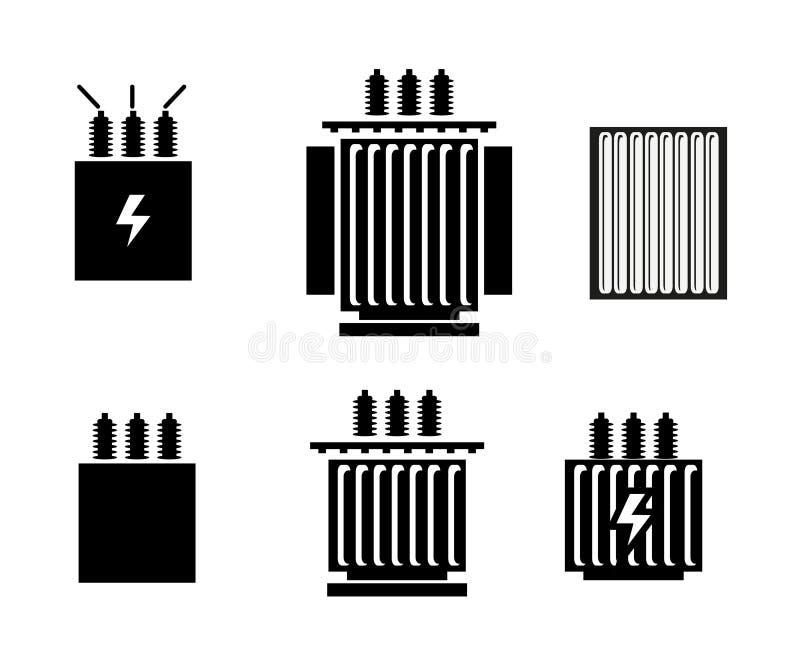 电变压器象-传染媒介例证 库存例证