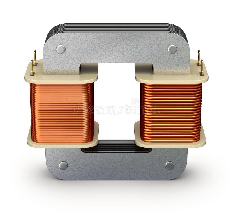 电变压器 皇族释放例证