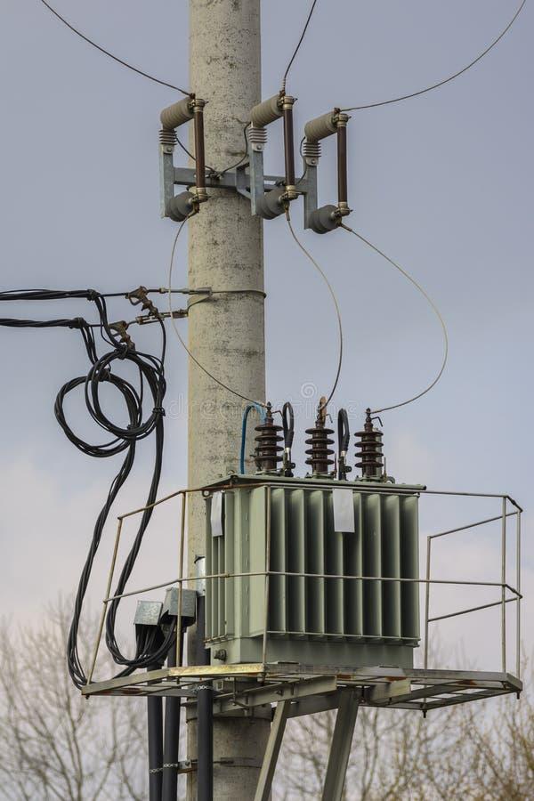 电变压器 免版税库存照片