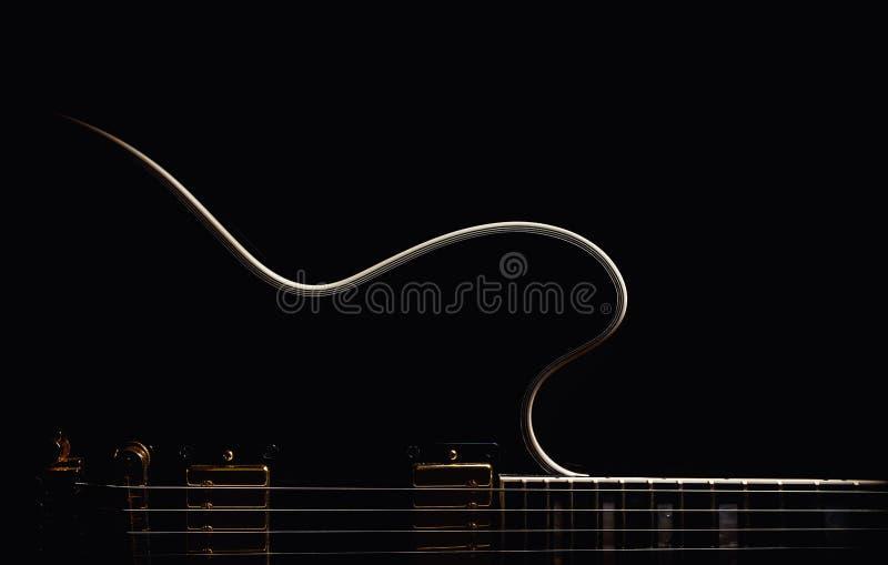 电吉他摘要 免版税库存照片