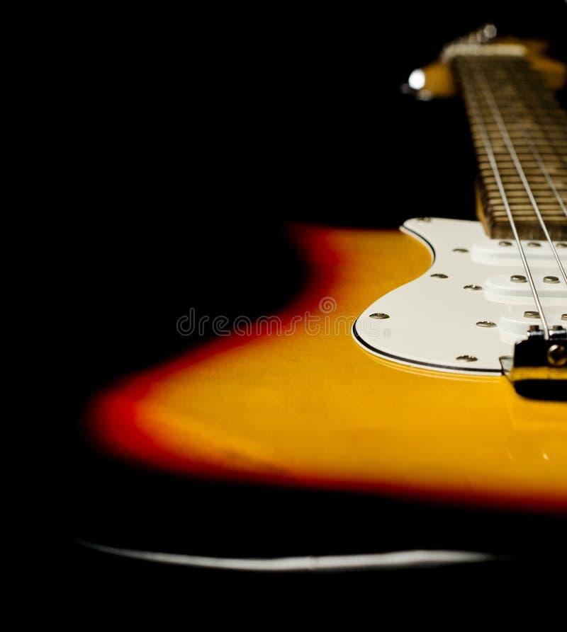 电吉他身体罚款细节 免版税图库摄影