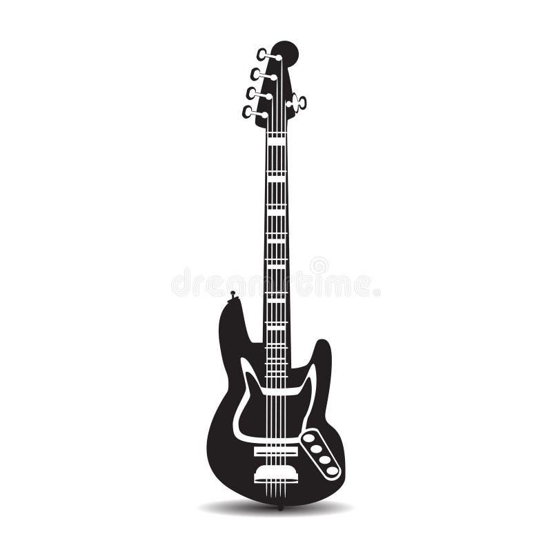 电吉他,在平的样式的传染媒介例证 向量例证