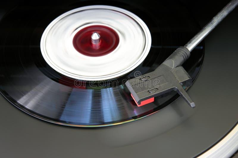 电唱机特写镜头 免版税库存图片
