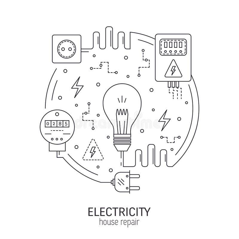 电圆的概念 库存例证