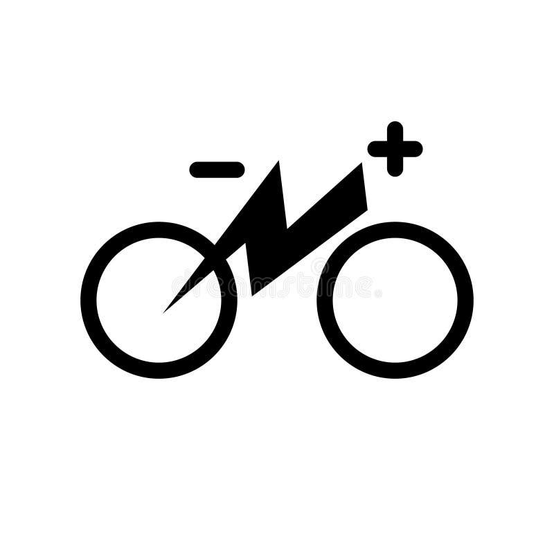 电城市自行车 与迁徙的e自行车线剪影的电一刹那照明设备雷电标志 被隔绝的标志象 设计 皇族释放例证