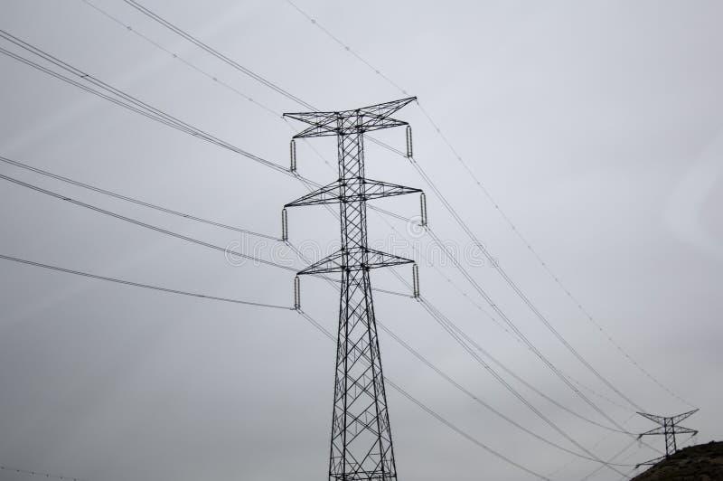 电塔天空 库存照片