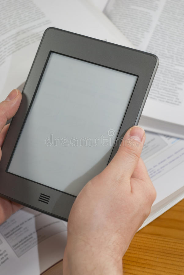 电子书读者 免版税图库摄影