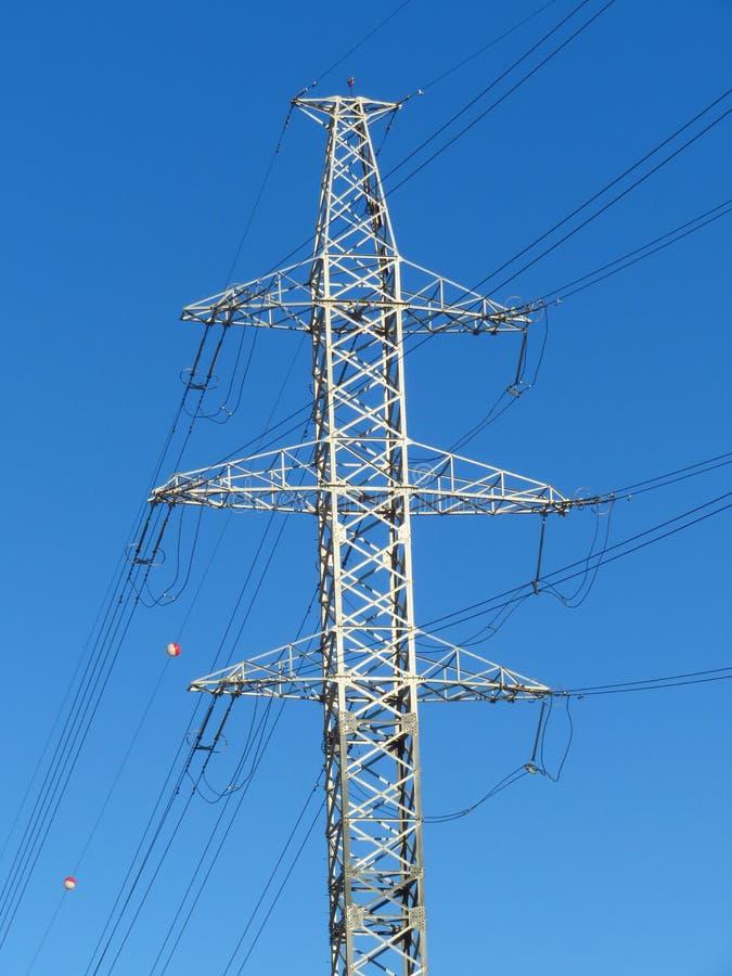 电子传输定向塔 高压 库存照片