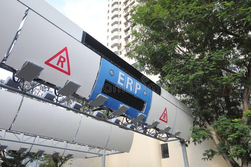电子公路定价ERP系统新加坡 库存照片