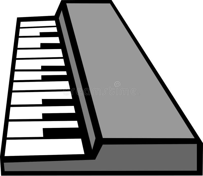 电子关键董事会音乐会合成器 库存例证