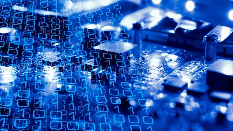 电子创新网络攻击威胁 免版税图库摄影