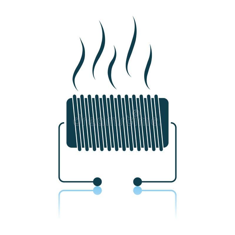 电子加热器象 库存例证