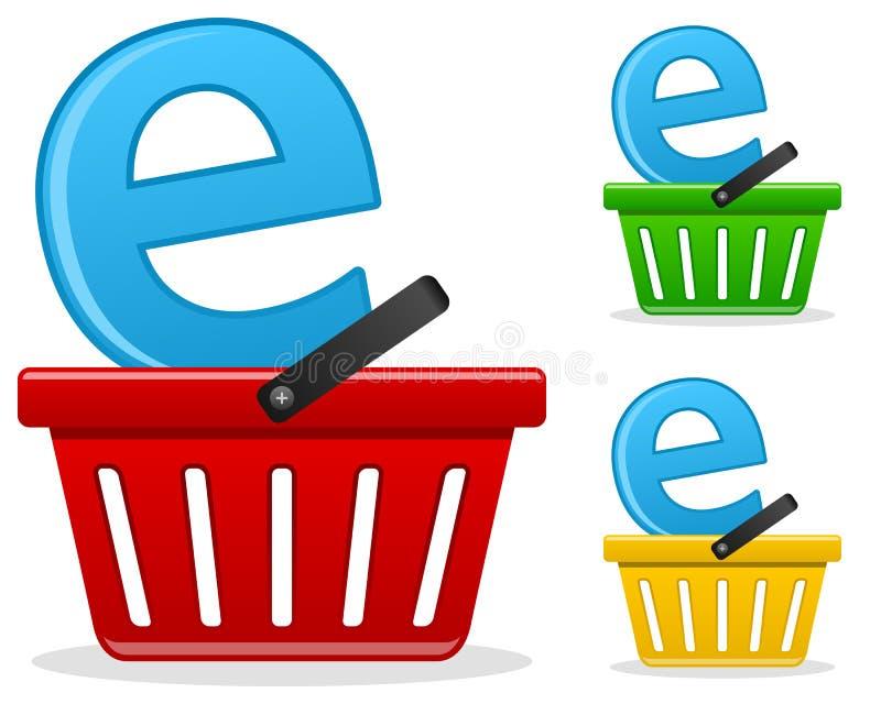 电子商务企业概念 库存例证