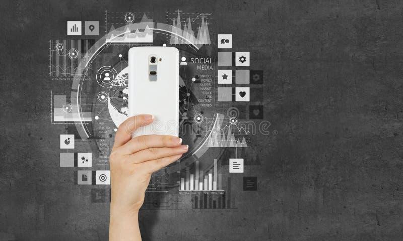电子商务和商务的概念 免版税库存图片