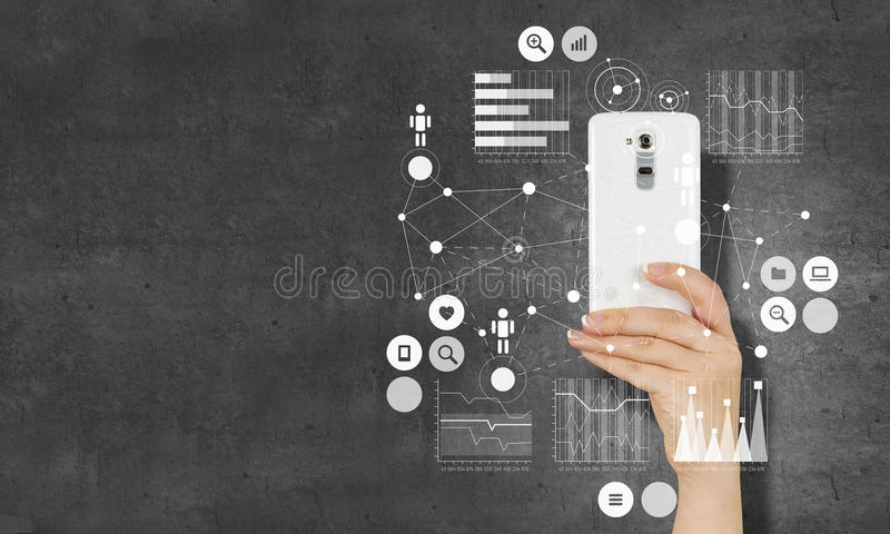 电子商务和商务的概念 图库摄影