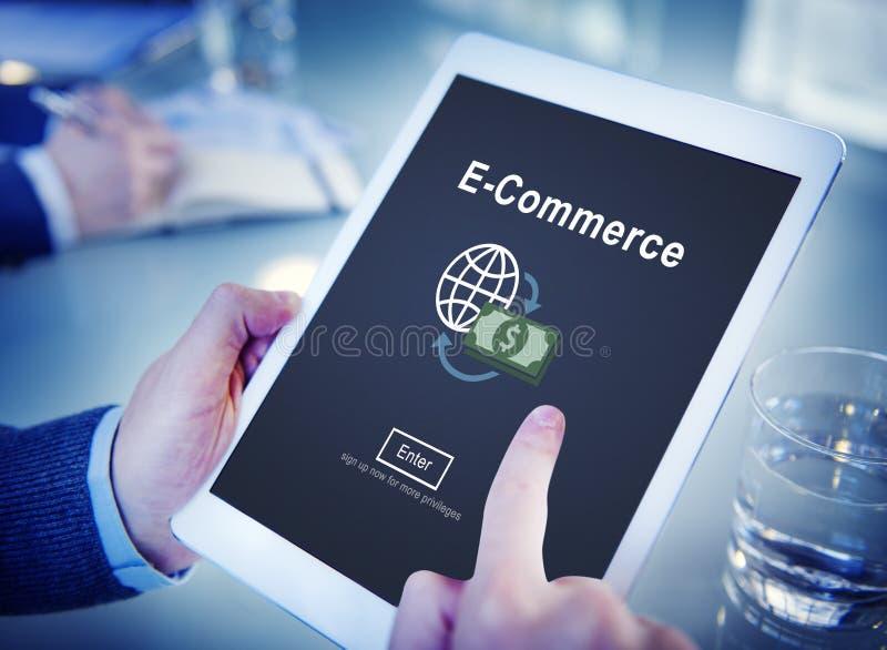 电子商务市场事务网上概念 免版税库存照片
