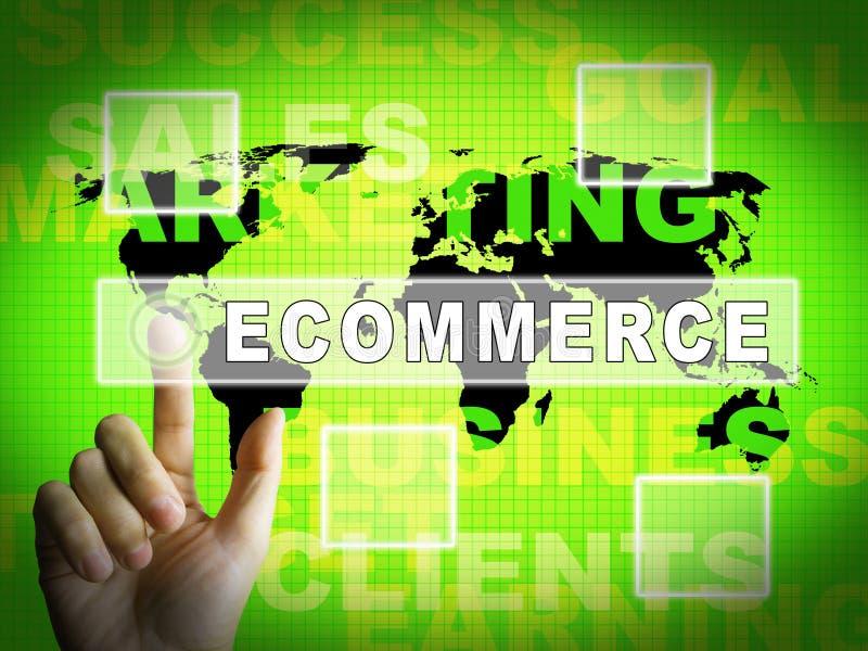 电子商务平台真正市场门3d例证 皇族释放例证