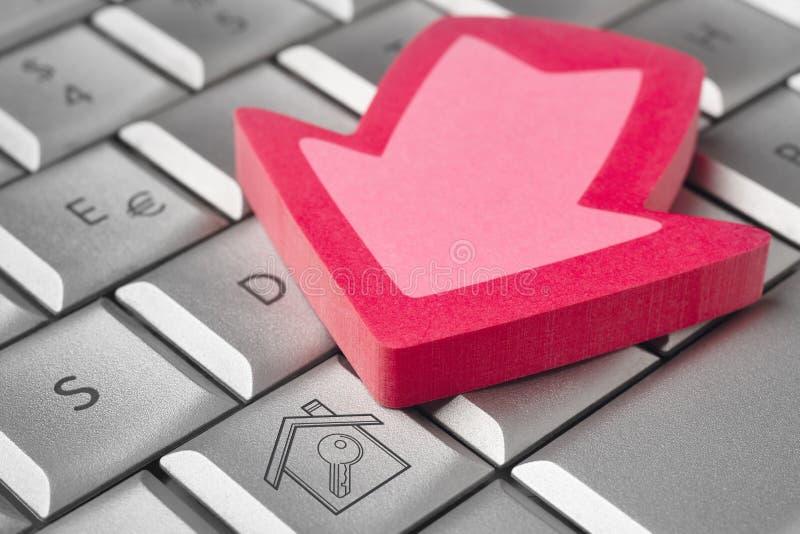 电子商务 商业铸造互联网膝上型计算机白色 免版税图库摄影
