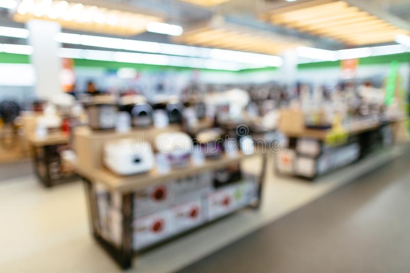 电子商店被弄脏的背景 免版税库存照片