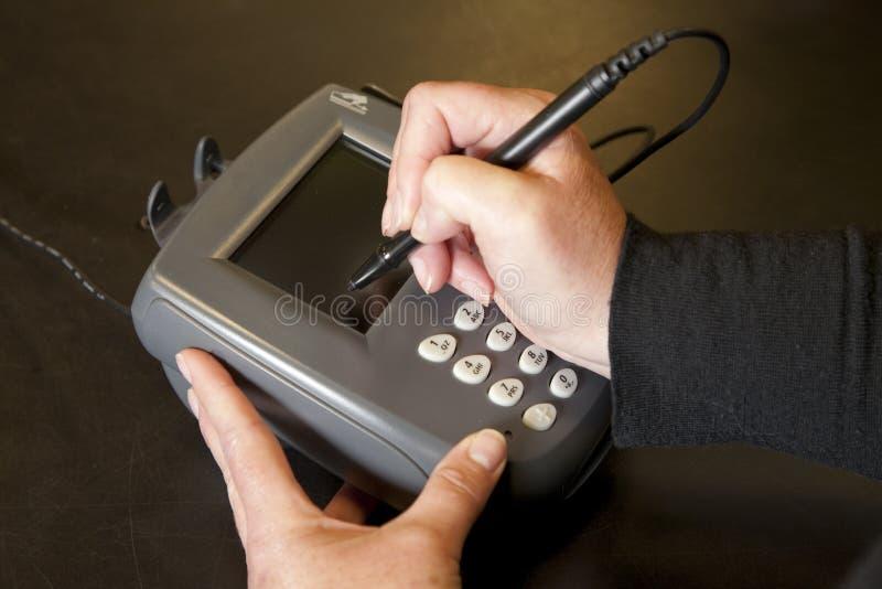 电子填充签名 免版税库存照片