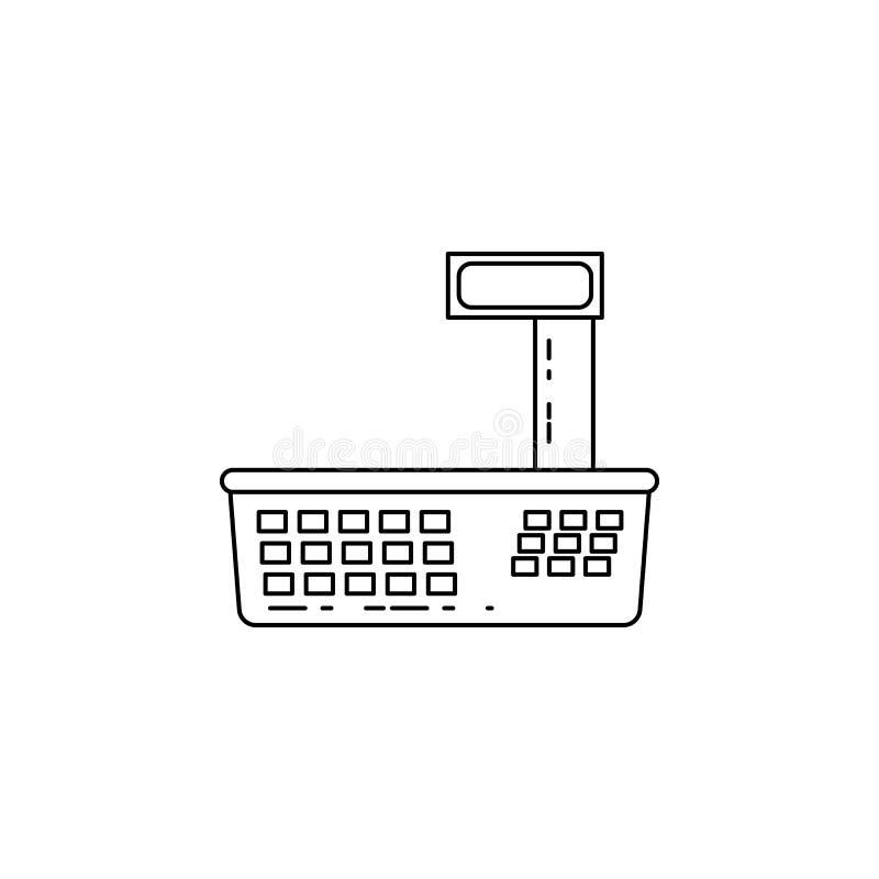 电子天平象 测量仪器的元素为流动概念和网apps的 网站设计的稀薄的线象和 皇族释放例证